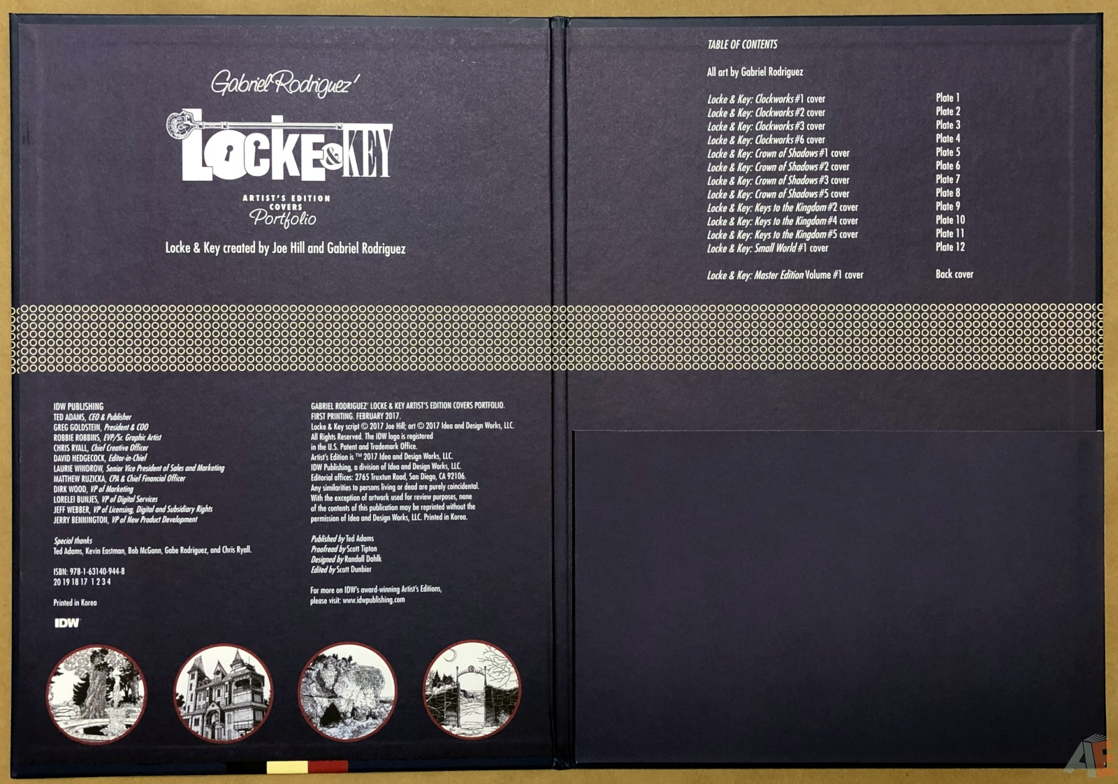 Gabriel Rodriguez' Locke & Key Artist's Edition Covers Portfolio 6