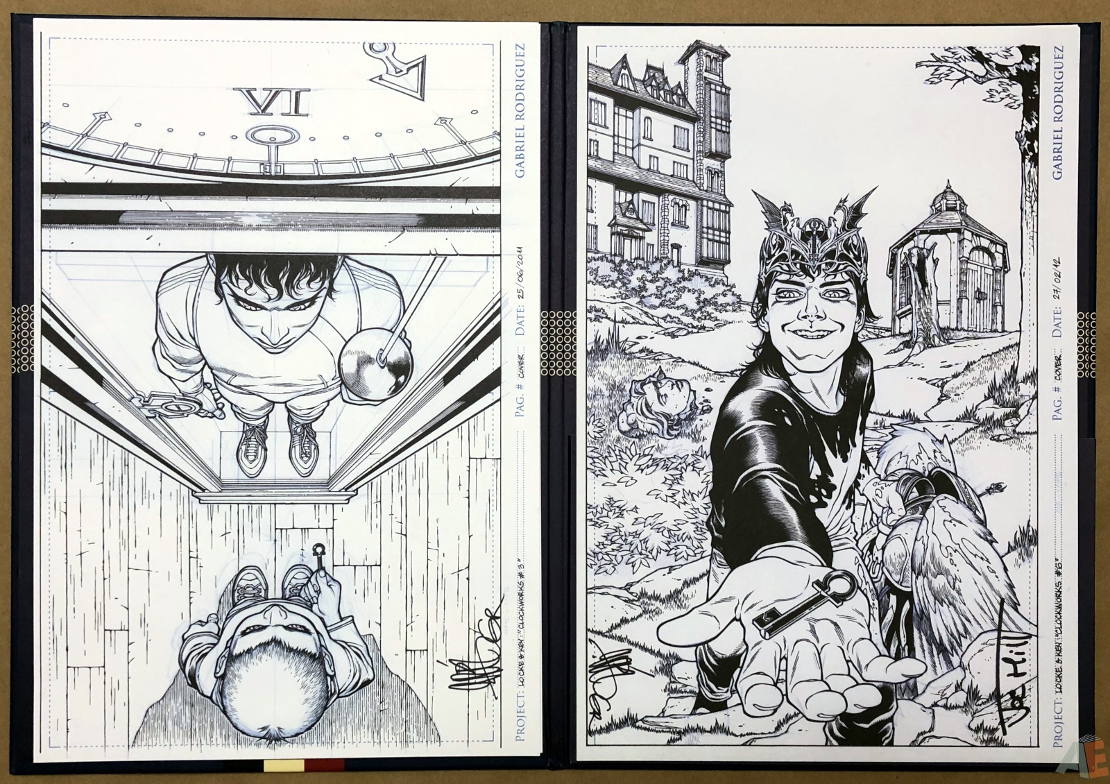 Gabriel Rodriguez' Locke & Key Artist's Edition Covers Portfolio 10