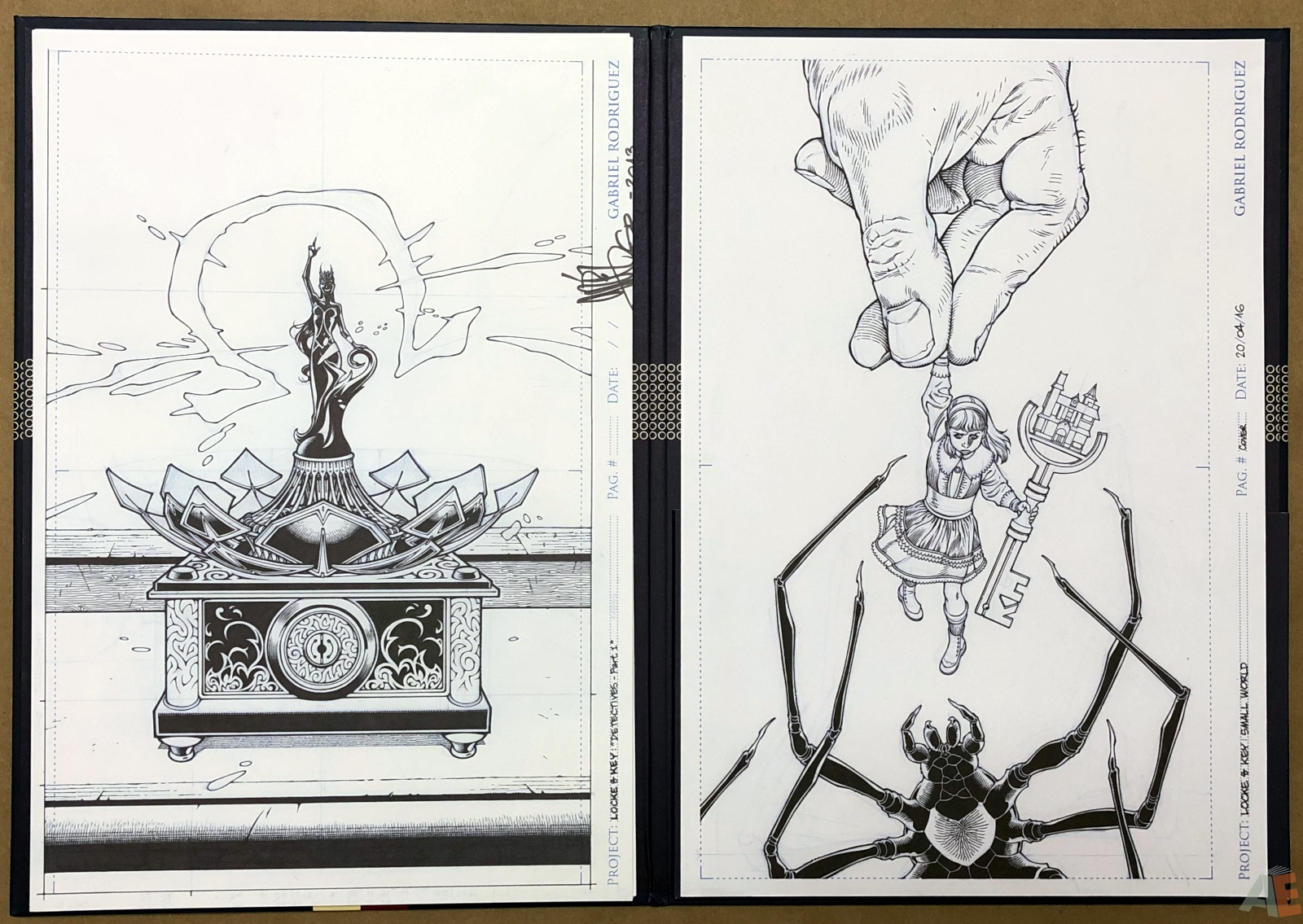 Gabriel Rodriguez' Locke & Key Artist's Edition Covers Portfolio 18