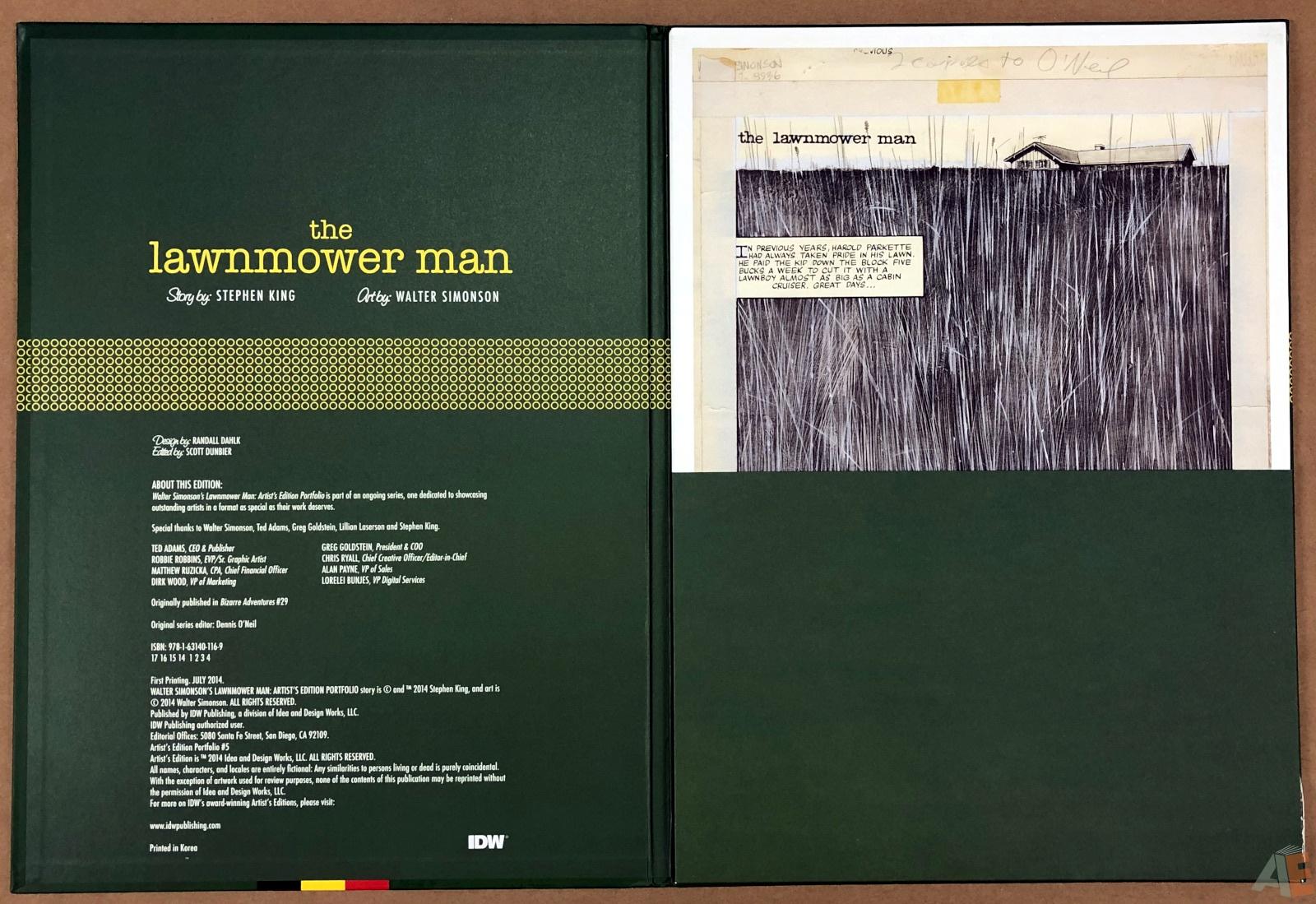 Walter Simonson's Lawnmower Man: Artist's Edition Portfolio 4