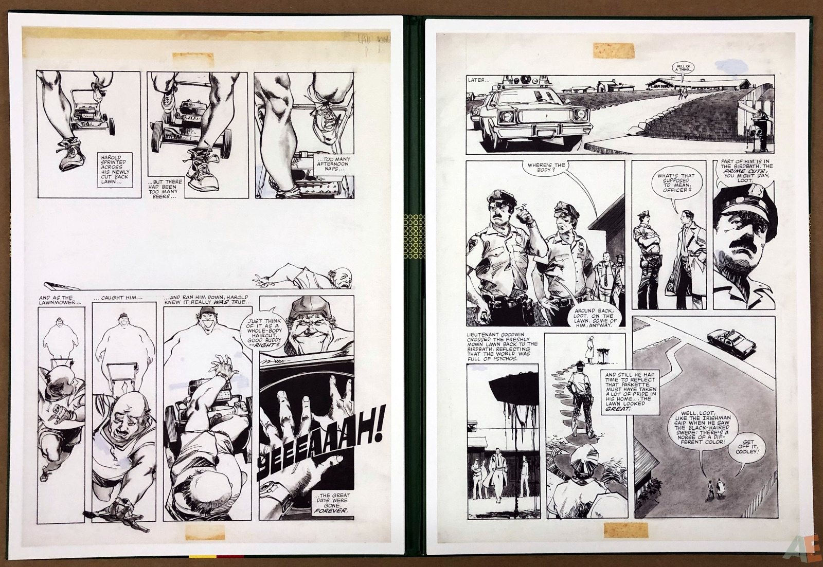 Walter Simonson's Lawnmower Man: Artist's Edition Portfolio