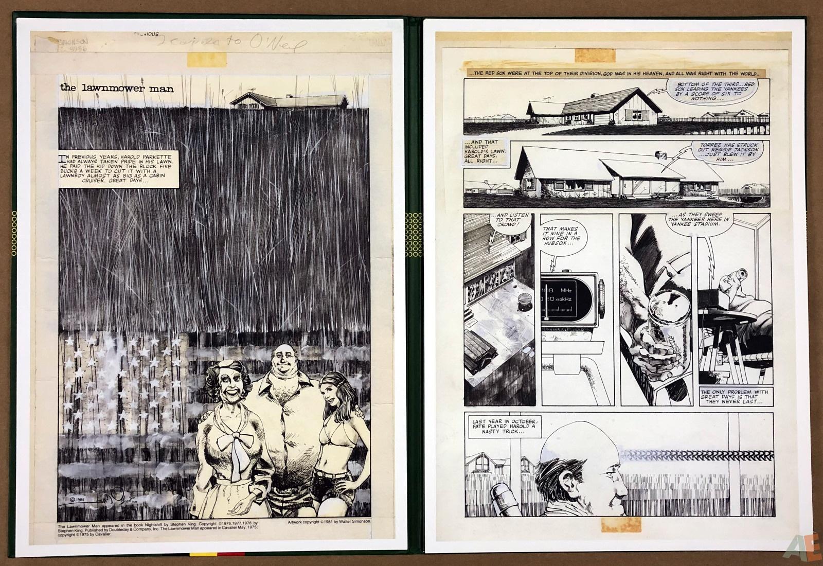 Walter Simonson's Lawnmower Man: Artist's Edition Portfolio 6