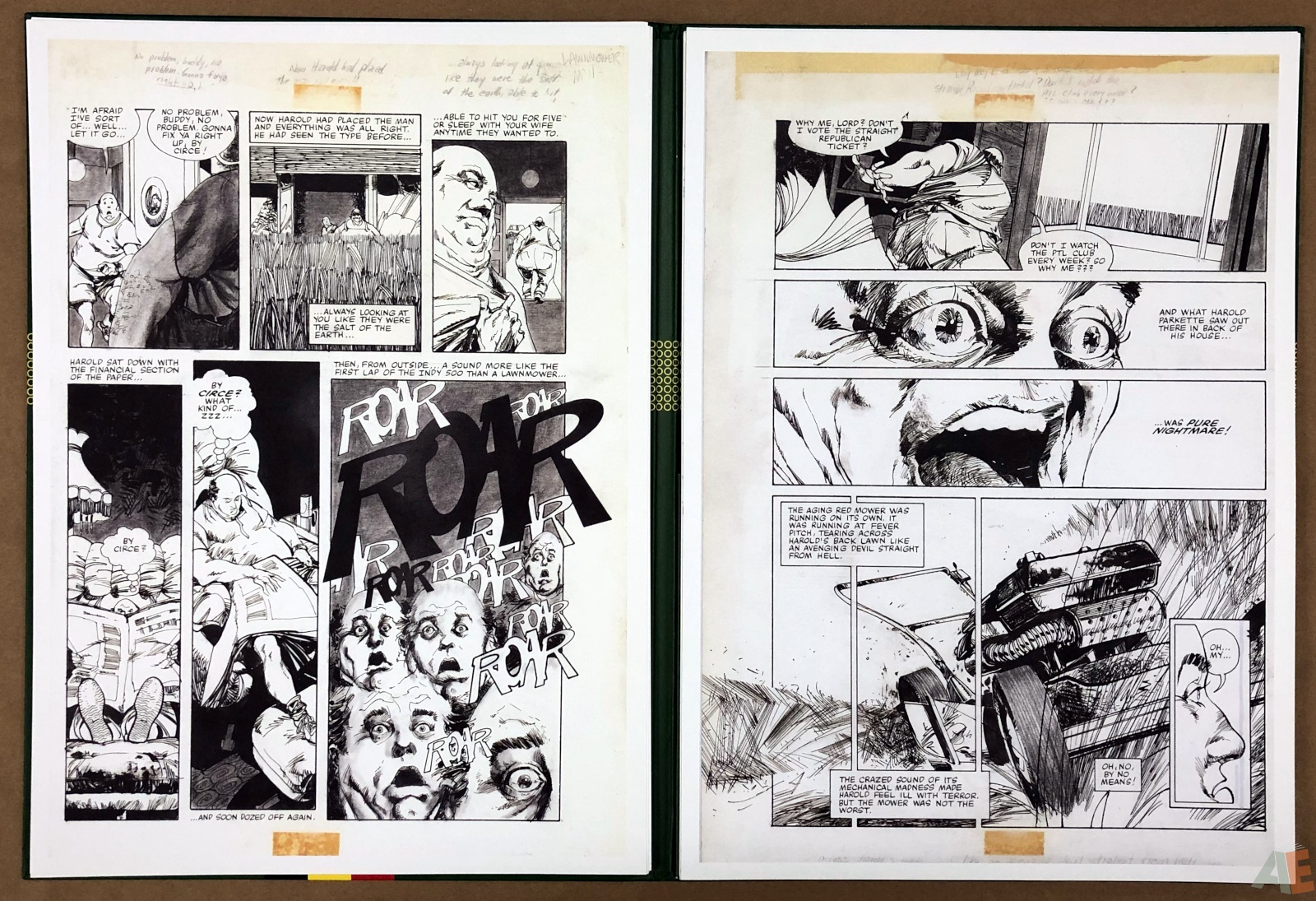 Walter Simonson's Lawnmower Man: Artist's Edition Portfolio 14