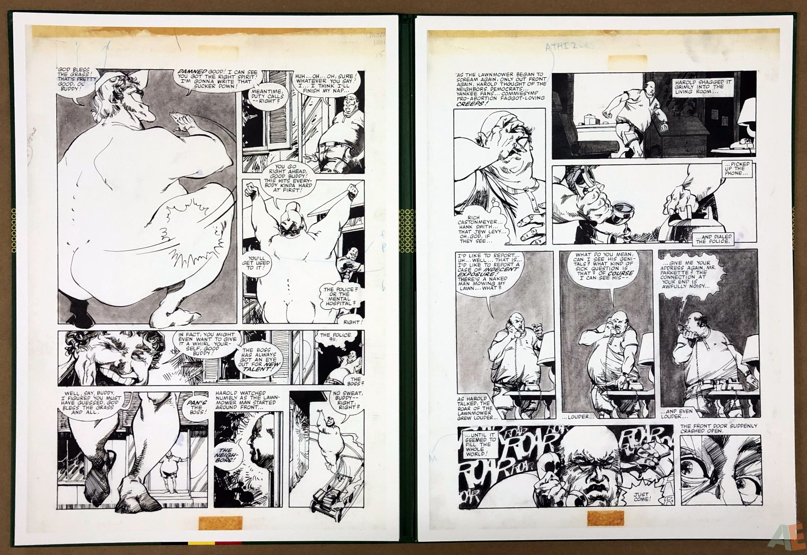 Walter Simonson's Lawnmower Man: Artist's Edition Portfolio 20