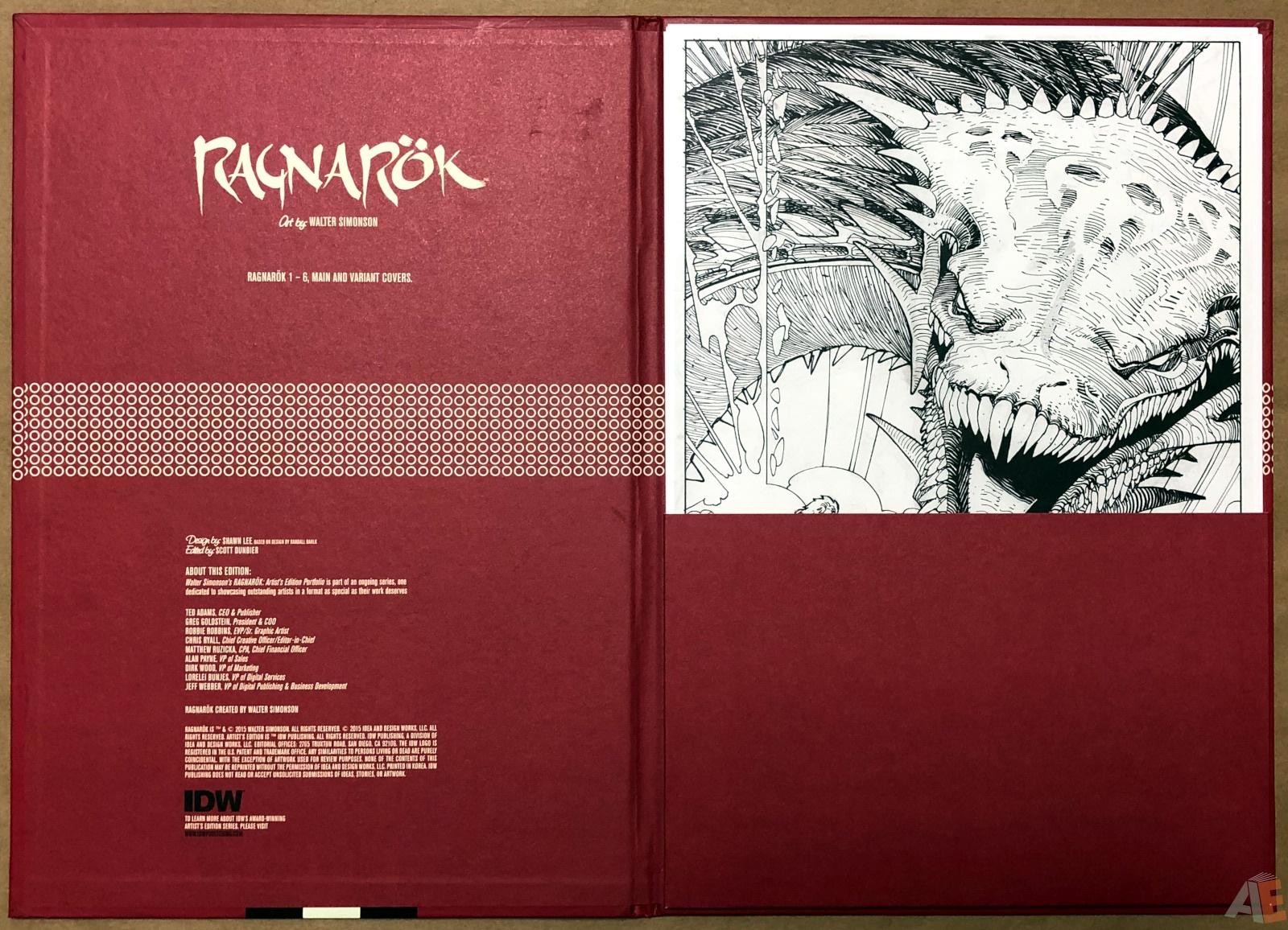 Walter Simonson's Ragnarök Artist's Edition Portfolio 4