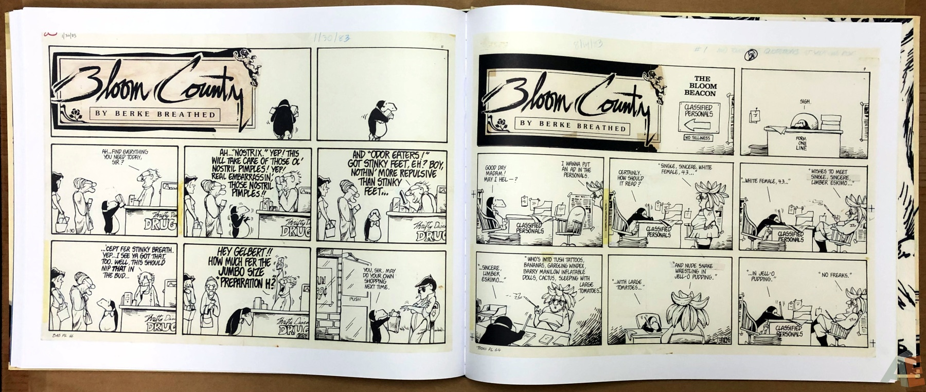Berkeley Breathed's Bloom County Artist's Edition 26