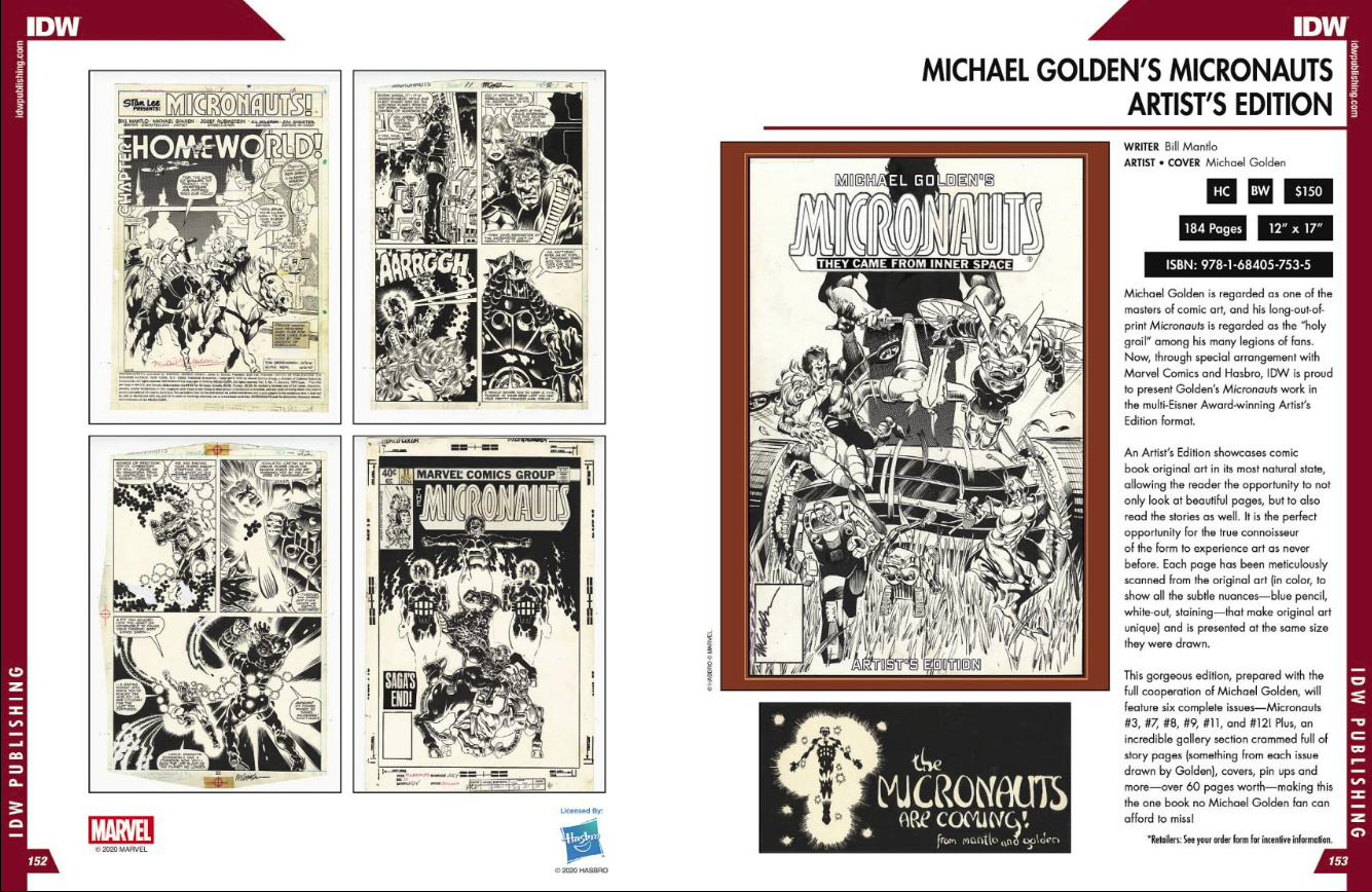 Michael Goldens Micronauts Artists Edition Previews
