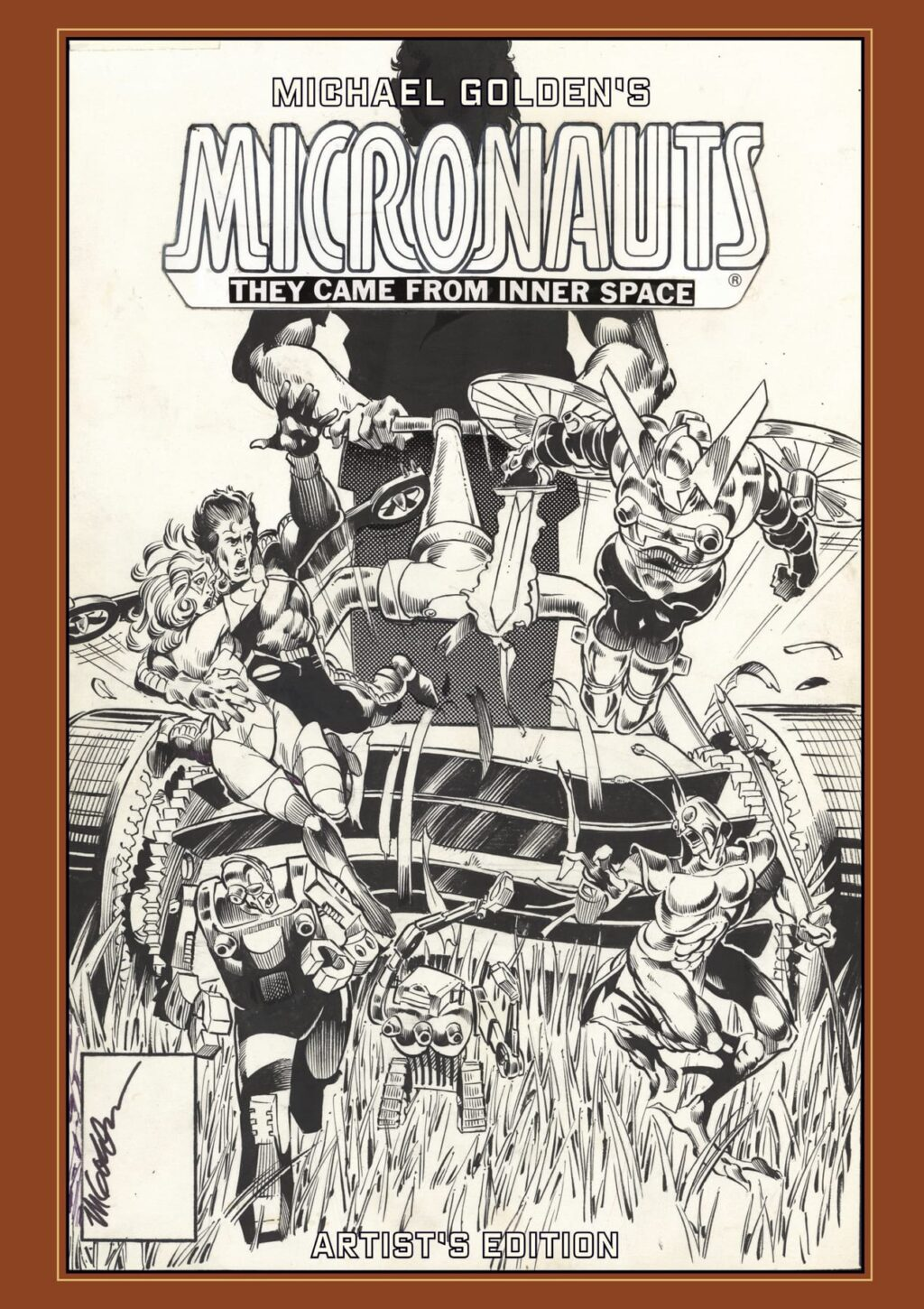 Michael Goldens Micronauts Artists Edition cover prelim