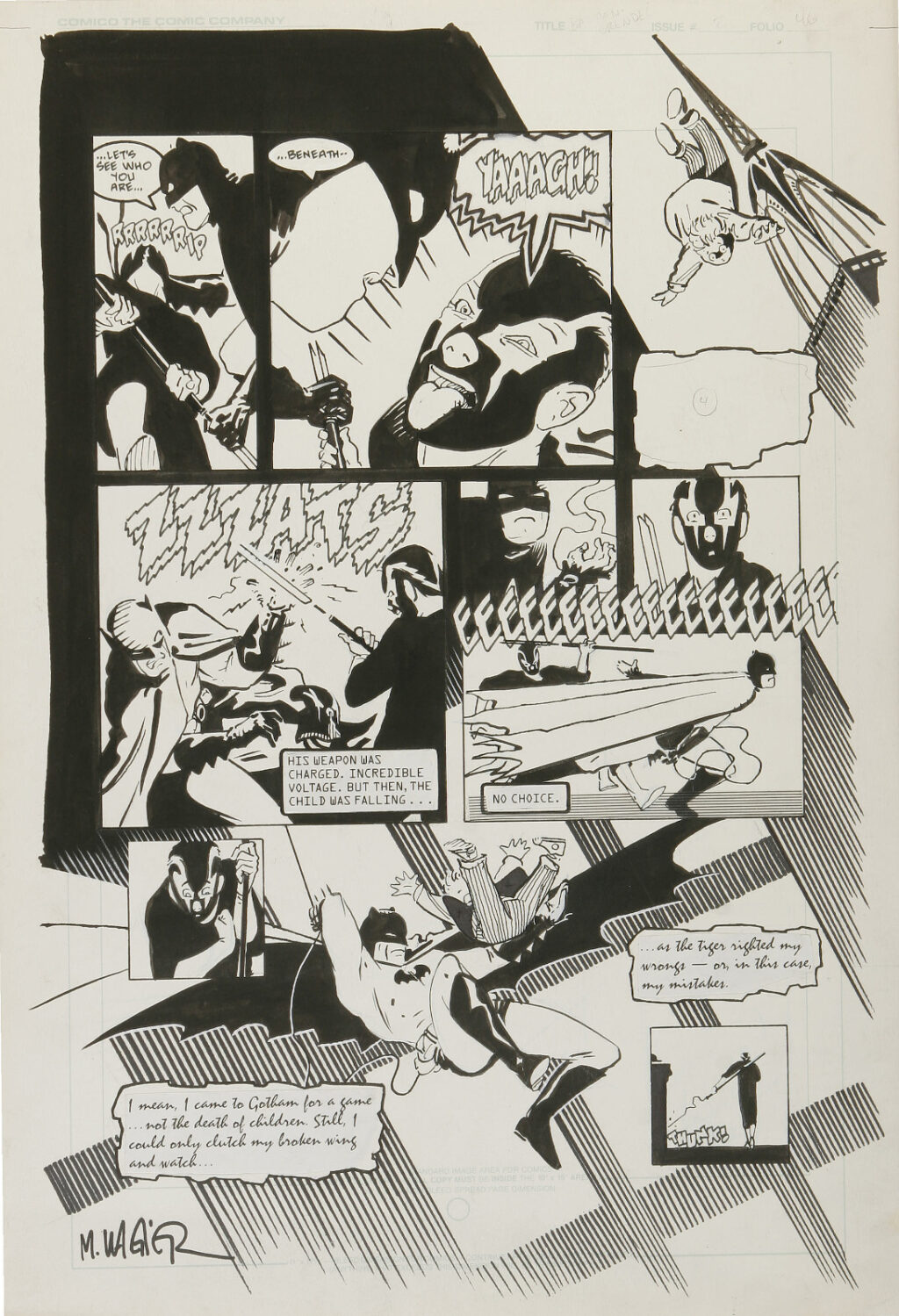 Batman Grendel Devils Masque issue 2 page 46 by Matt Wagner and Joe Matt