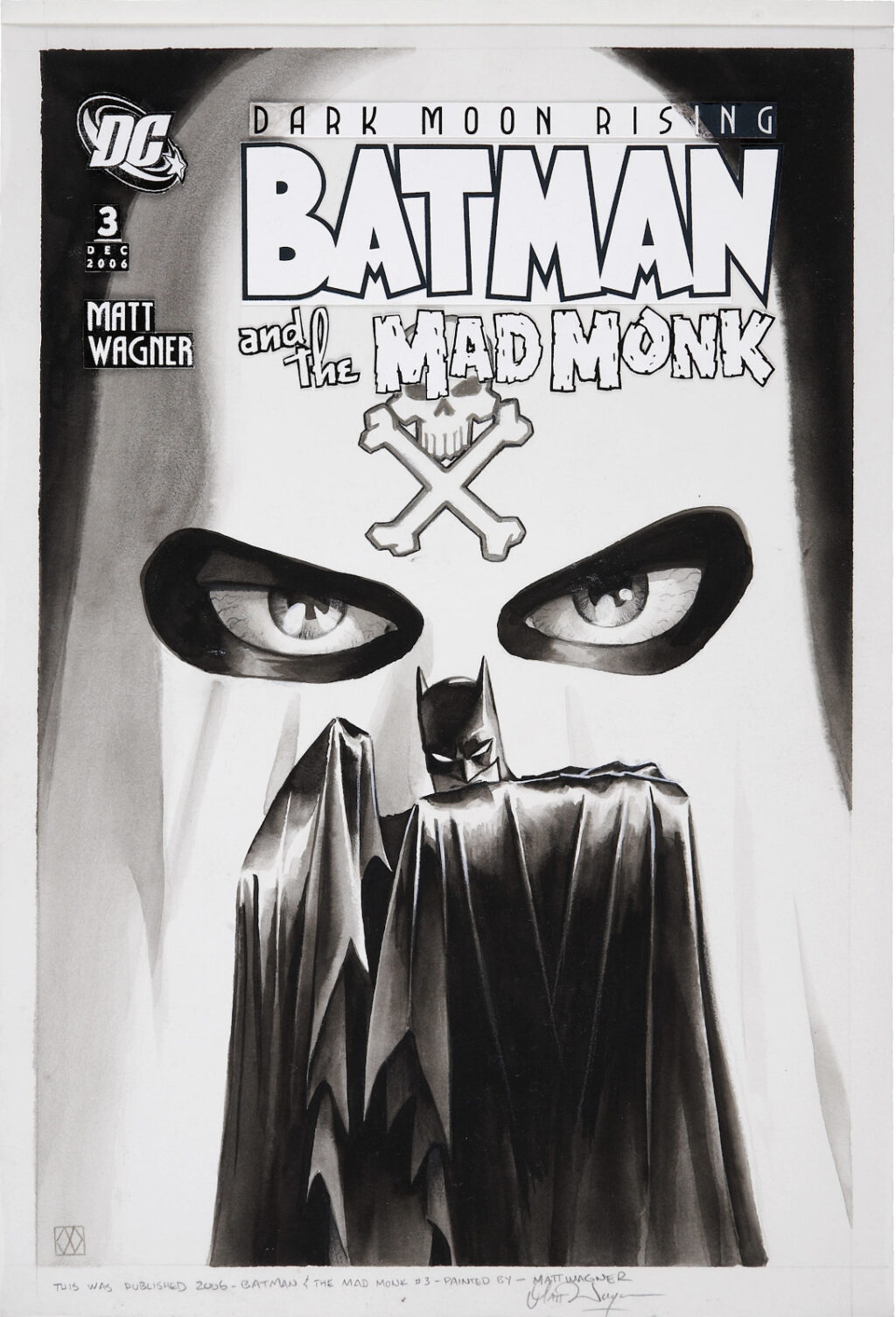 Batman and the Mad Monk issue 3 cover by Matt Wagner