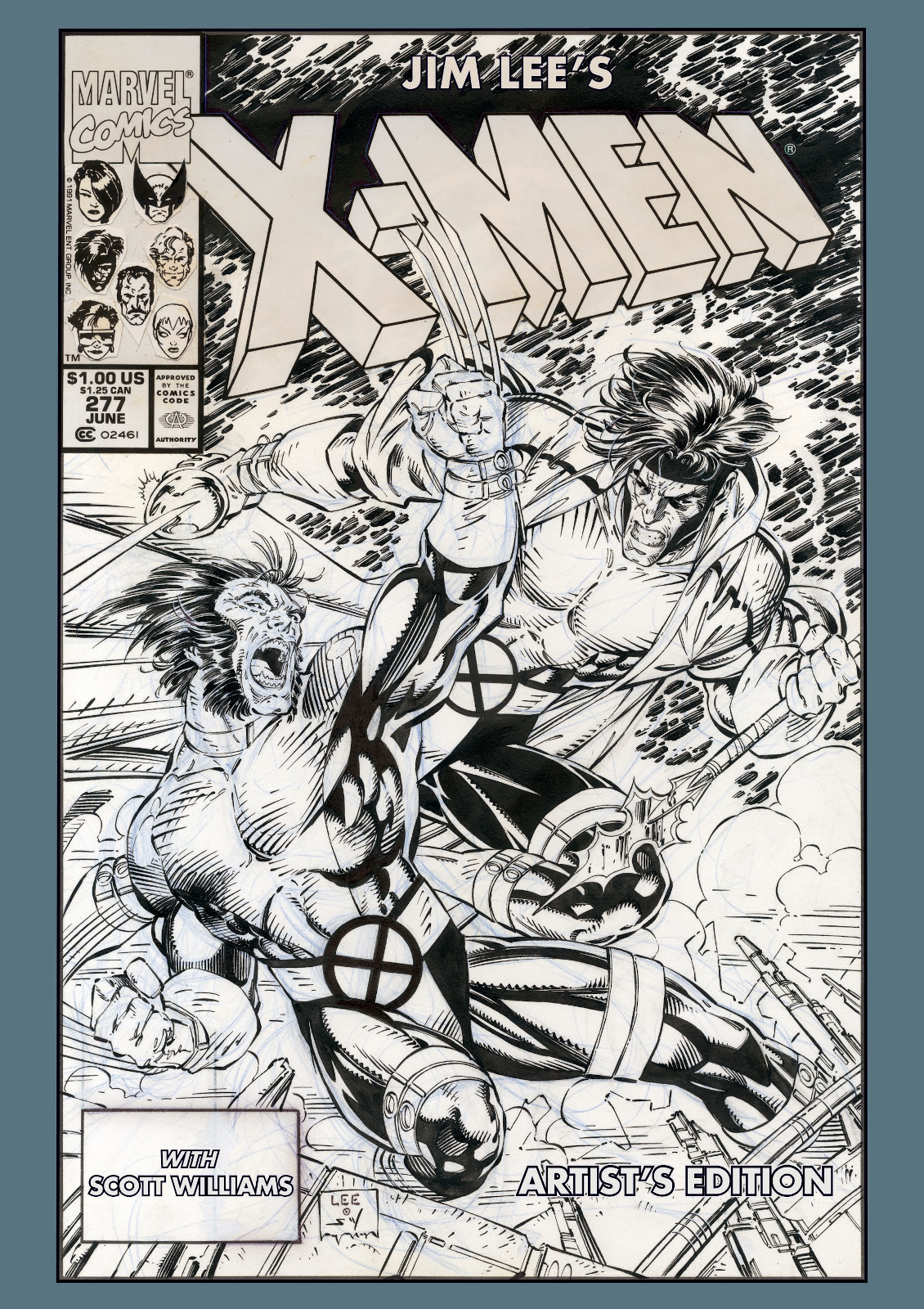Jim Lees X Men Artists Edition cover prelim