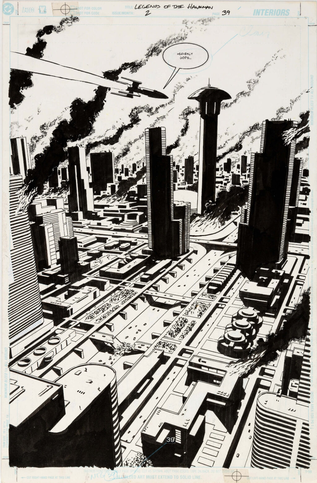 Legend of the Hawkman issue 2 page 39 by Michael Lark