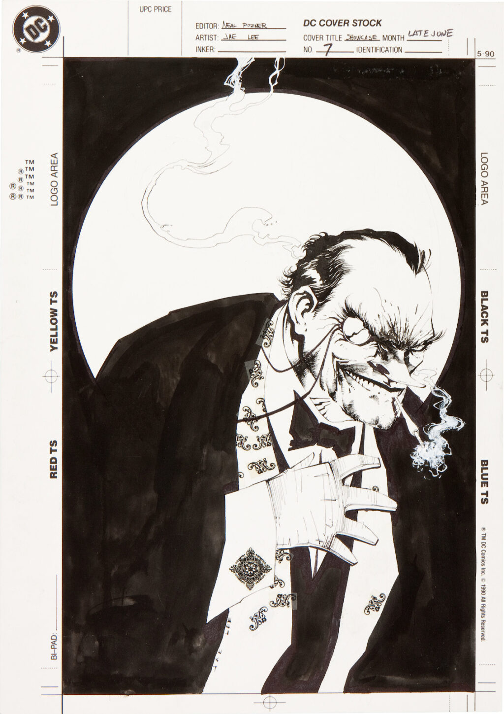 Showcase 94 issue 7 cover by Jae Lee