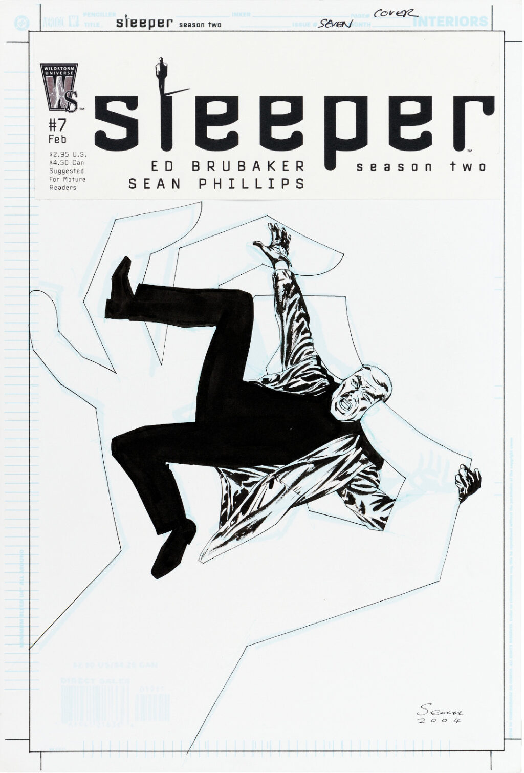 Sleeper Season Two issue 7 cover by Sean Phillips