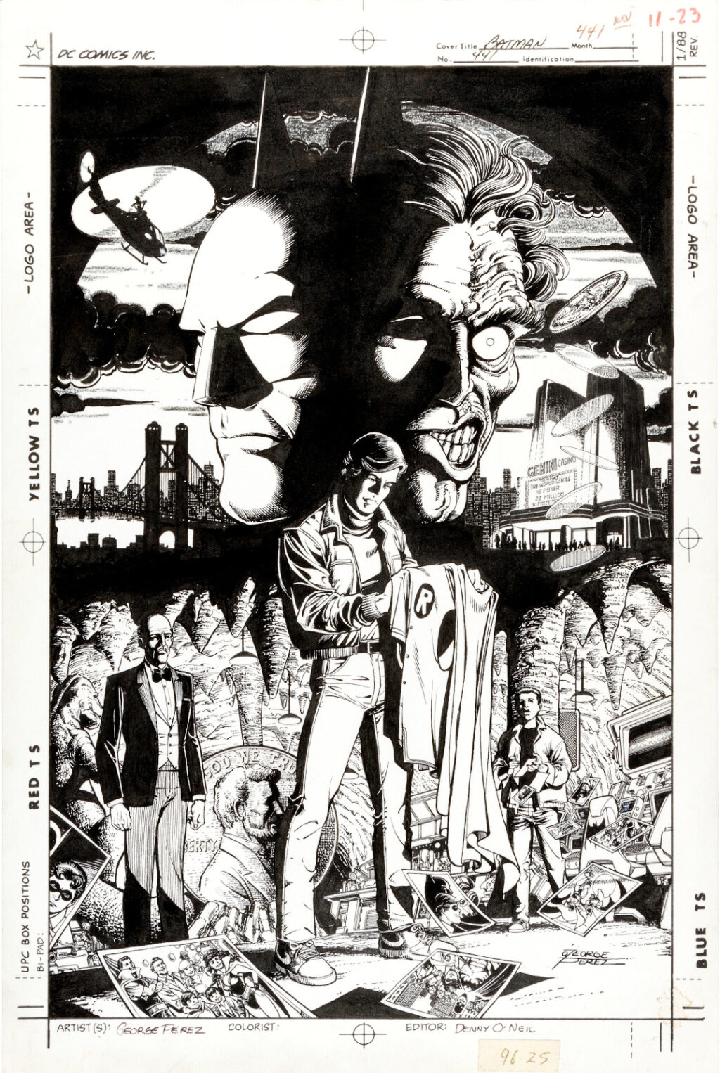 Batman issue 441 cover by George Perez