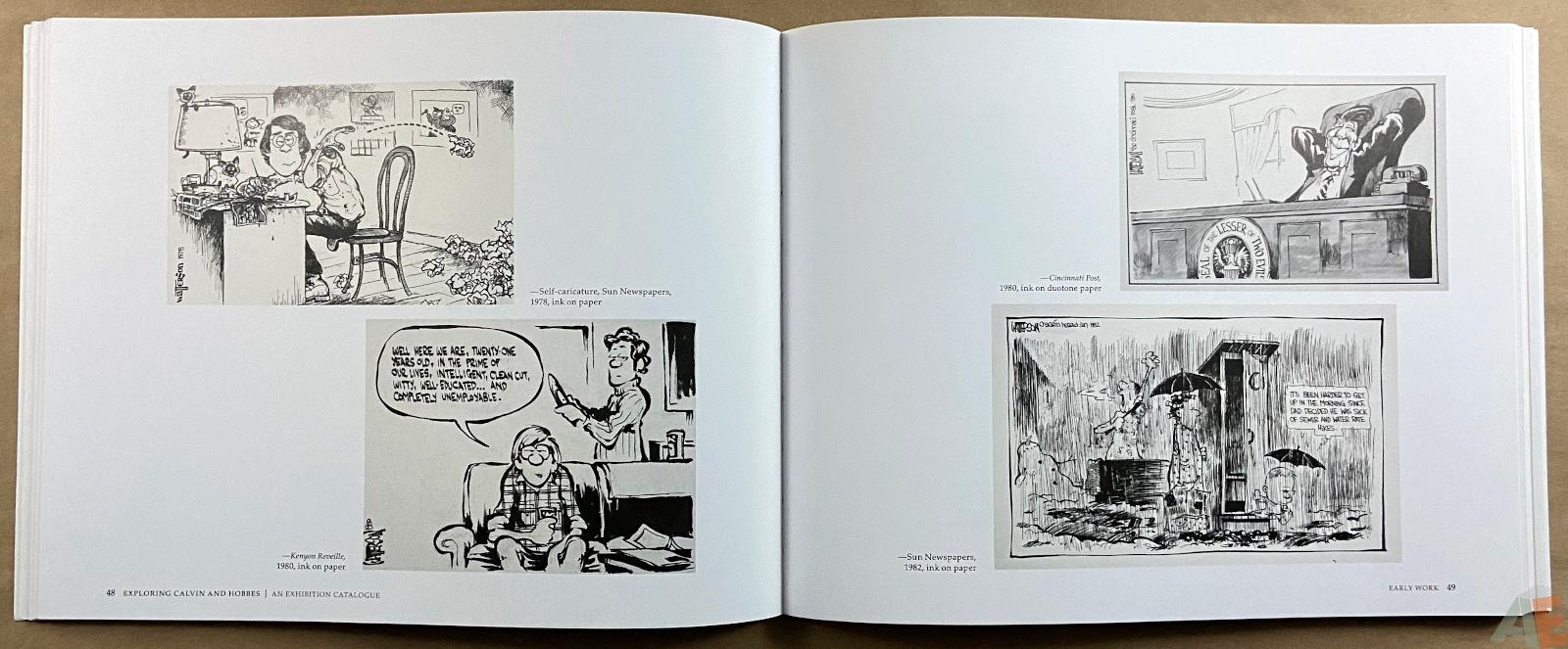 Exploring Calvin and Hobbes An Exhibition Catalogue interior 1