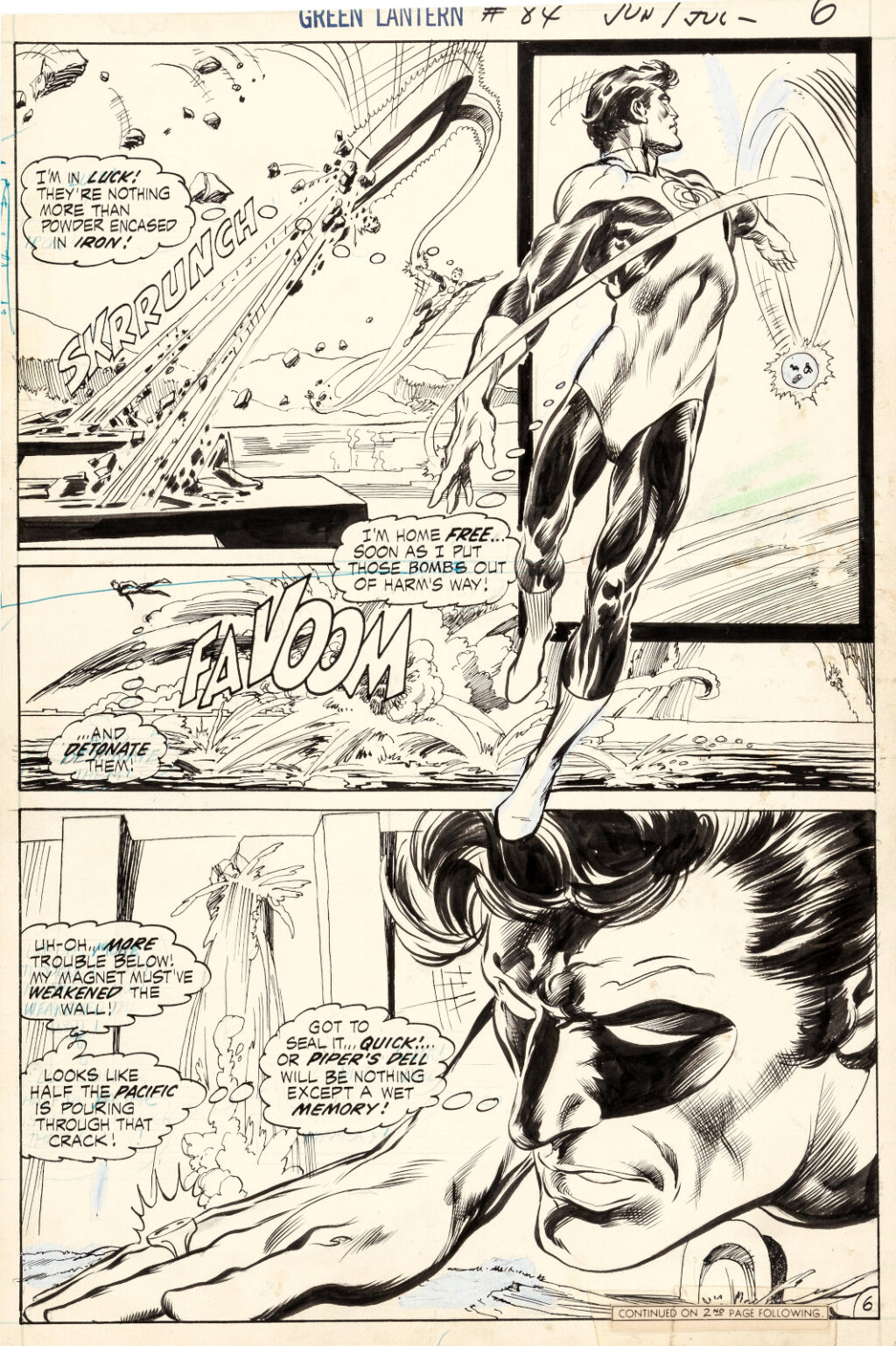 Green Lantern issue 84 page 6 by Neal Adams and Bernie Wrightson