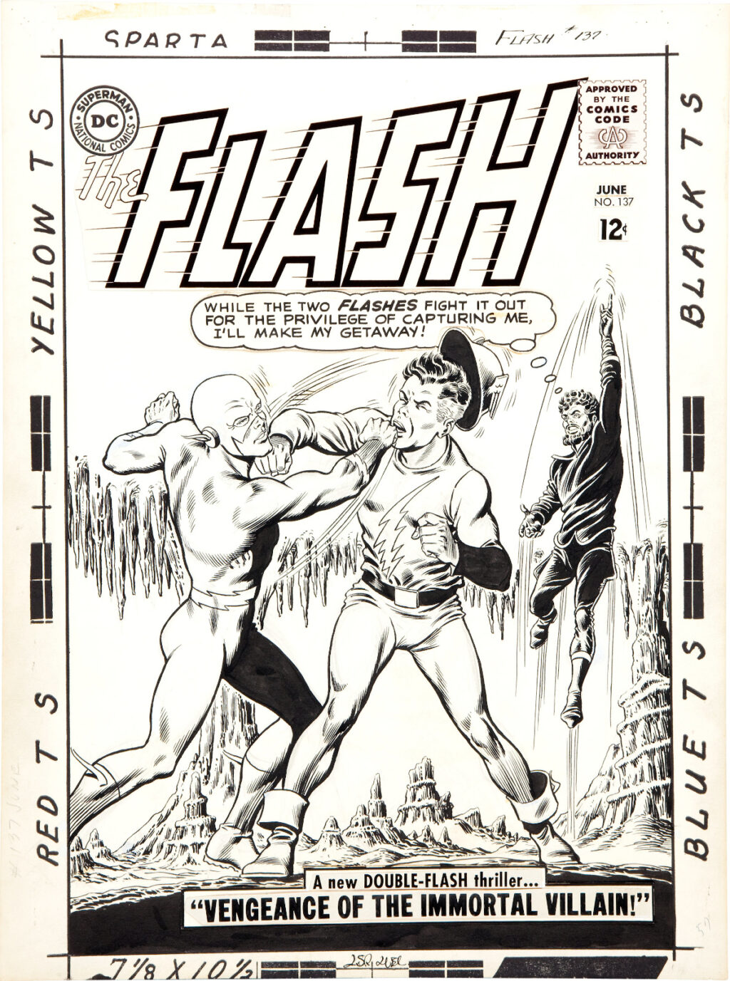 The Flash issue 137 cover by Carmine Infantino and Murphy Anderson