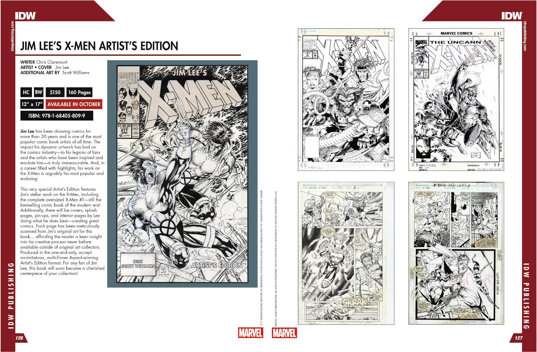 Jim Lee's X Men Artist's Edition Previews