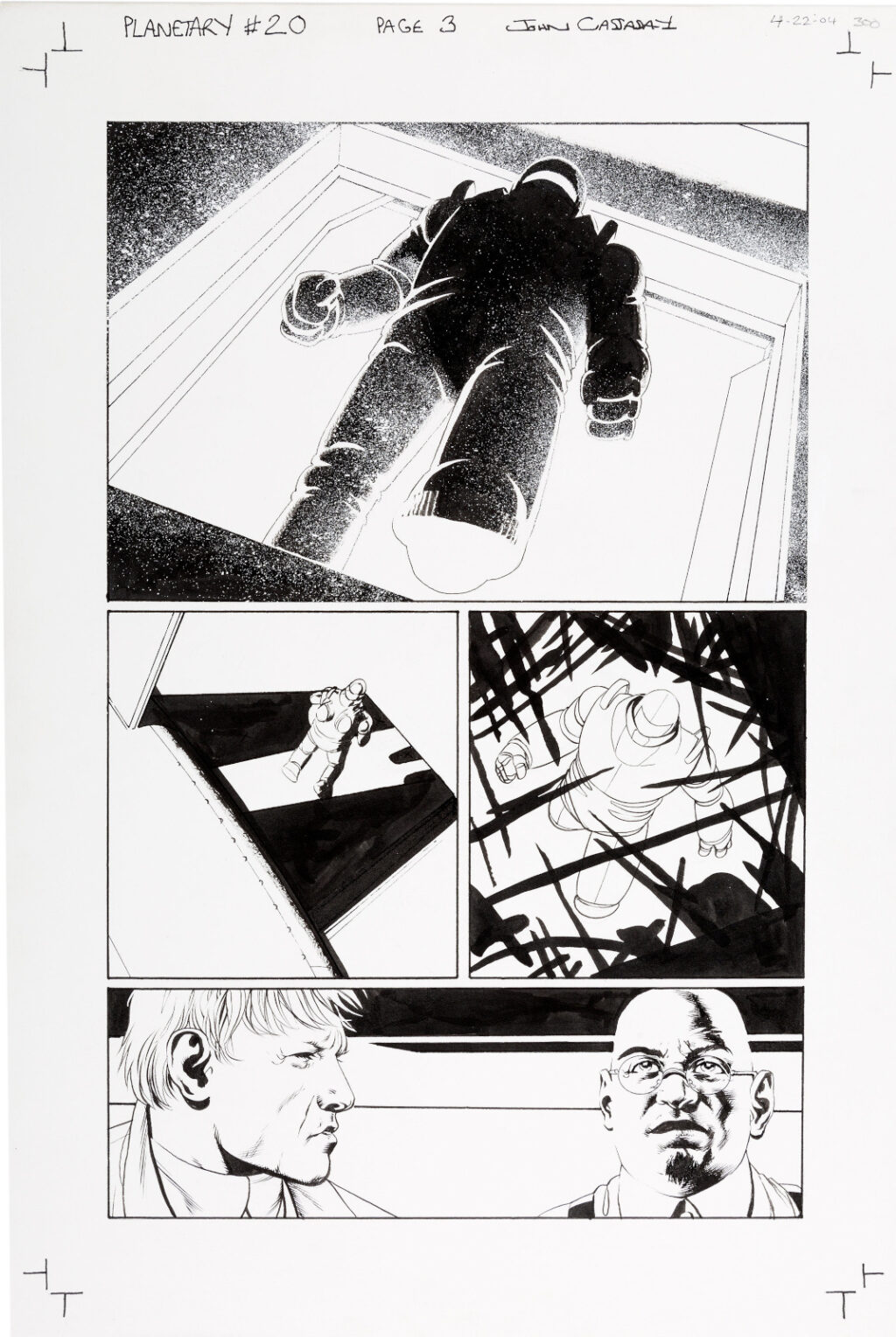 Planetary issue 20 page 3 by John Cassaday