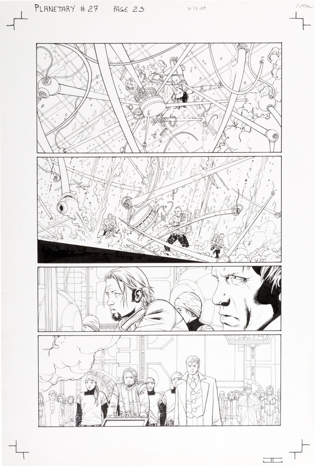 Planetary issue 27 page 23 by John Cassaday