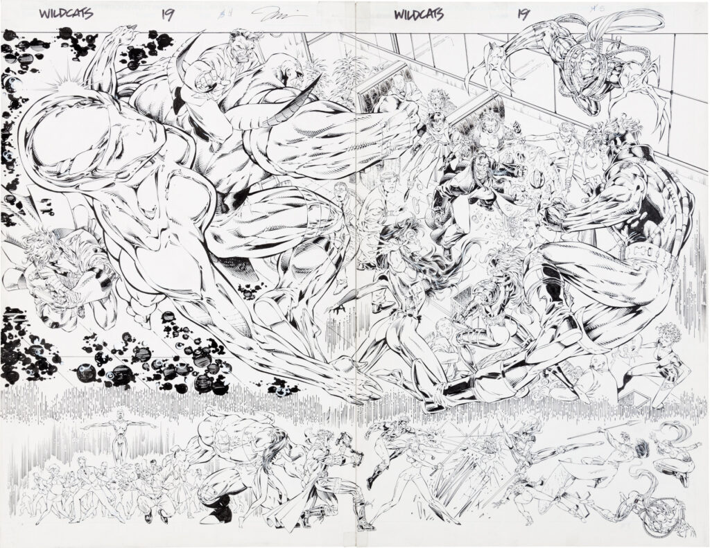 Wildcats issue 19 splash by Jim Lee and Richard Bennett