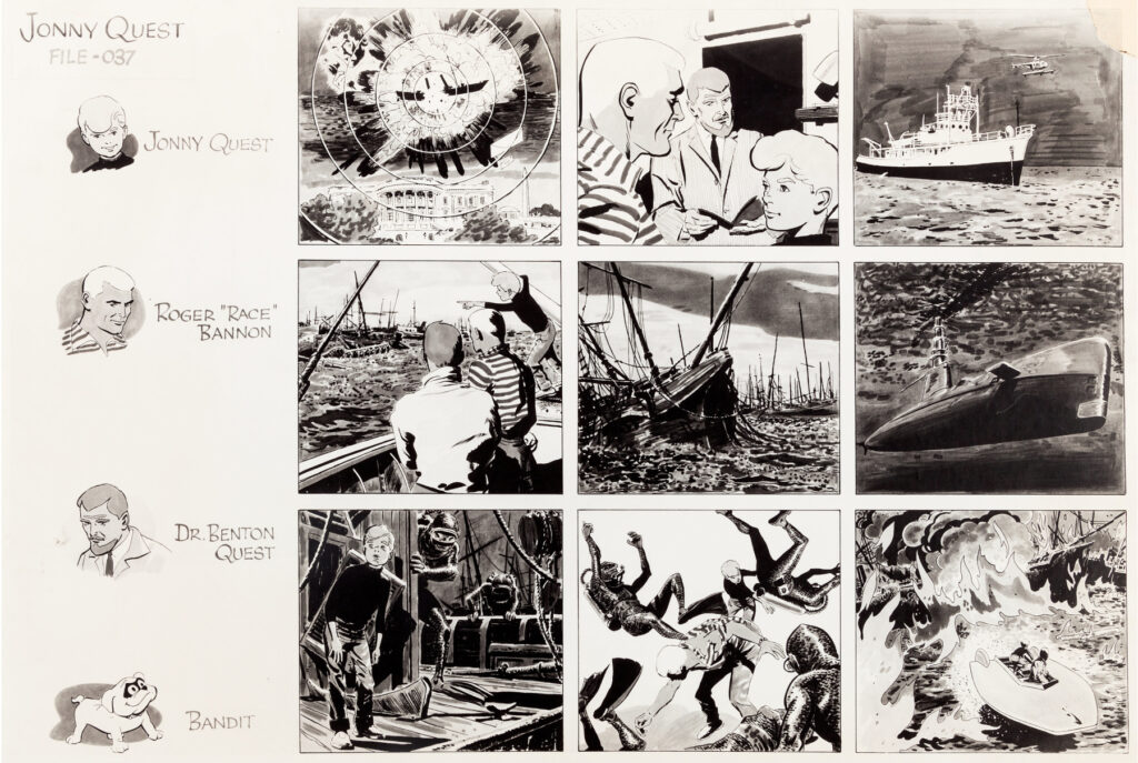 Jonny Quest storyboard 1 by Doug Wildey