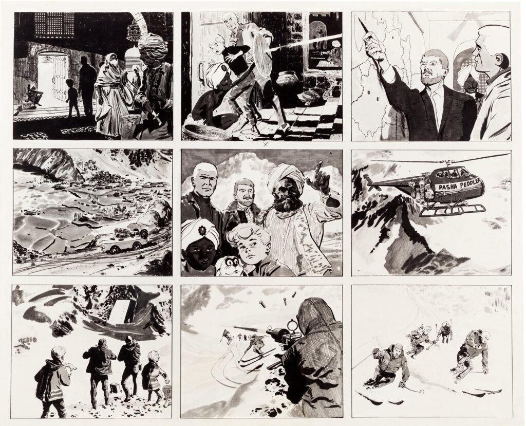 Jonny Quest storyboard 3 by Doug Wildey