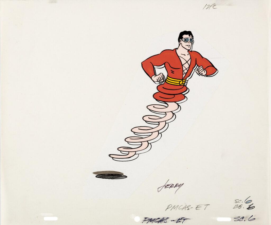 Plastic Man Comedy Adventure Hour model cel by Jerry Eisenberg