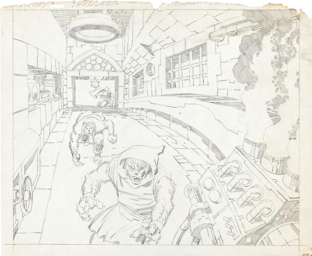 Thundarr the Barbarian storyboard by Jack Kirby