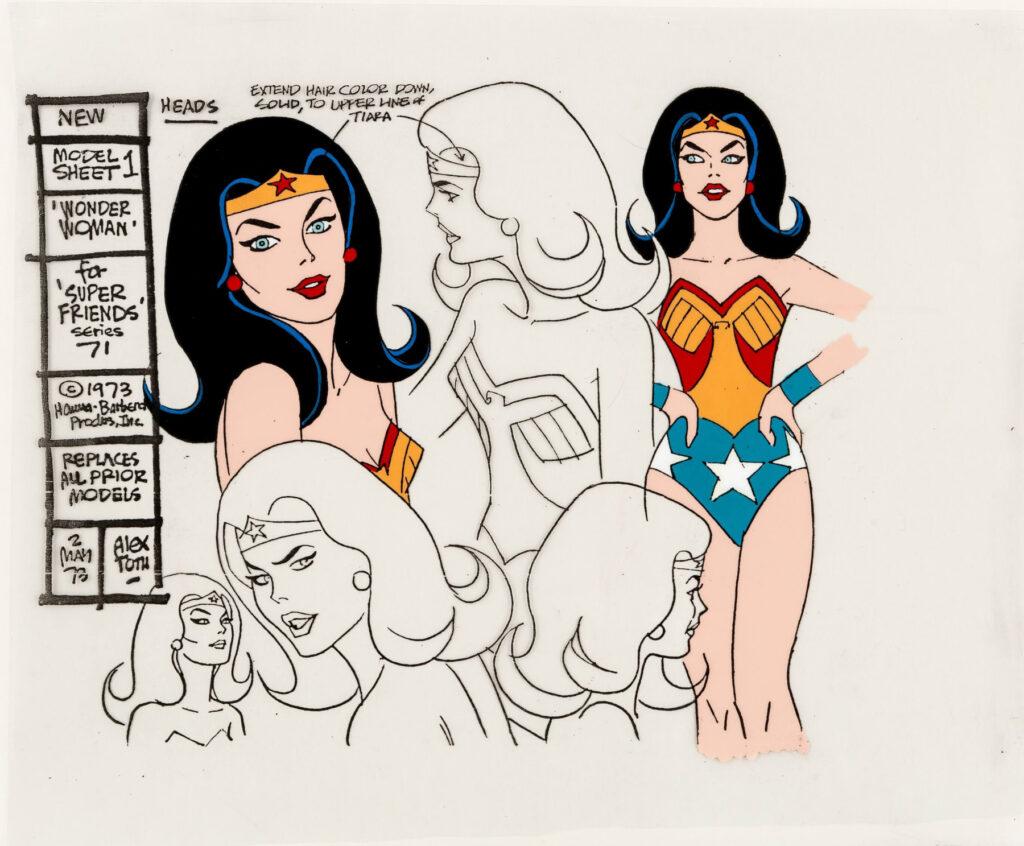 Wonder Woman model cel by Alex Toth