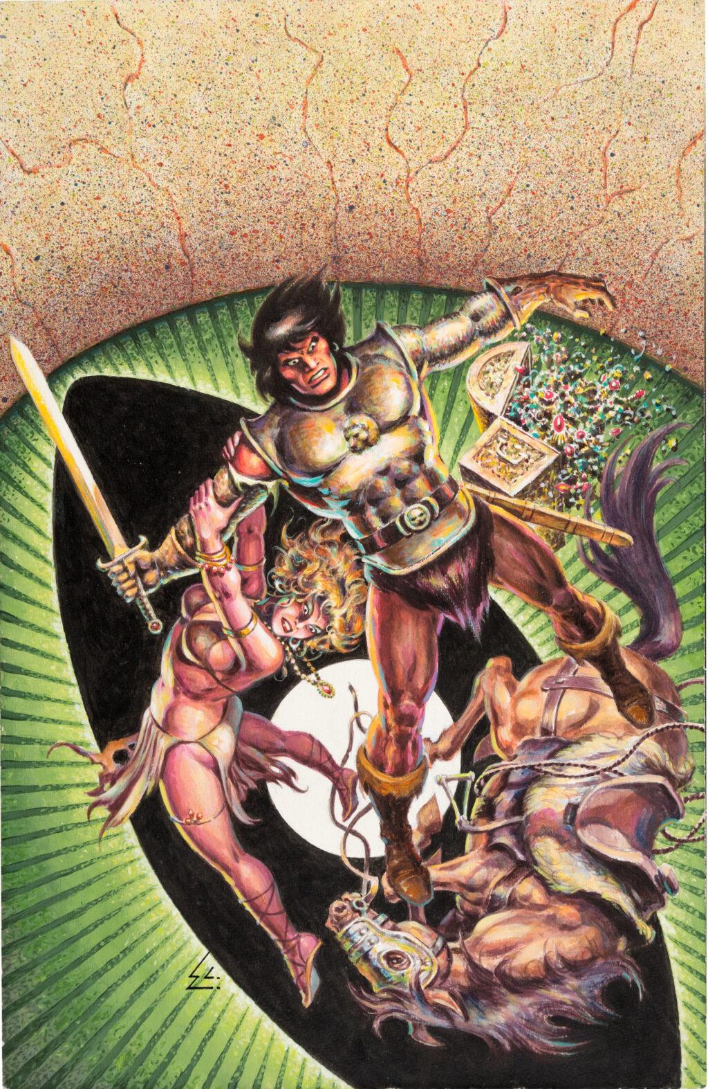 Conan the Barbarian Annual issue 10 cover by Ernie Chan