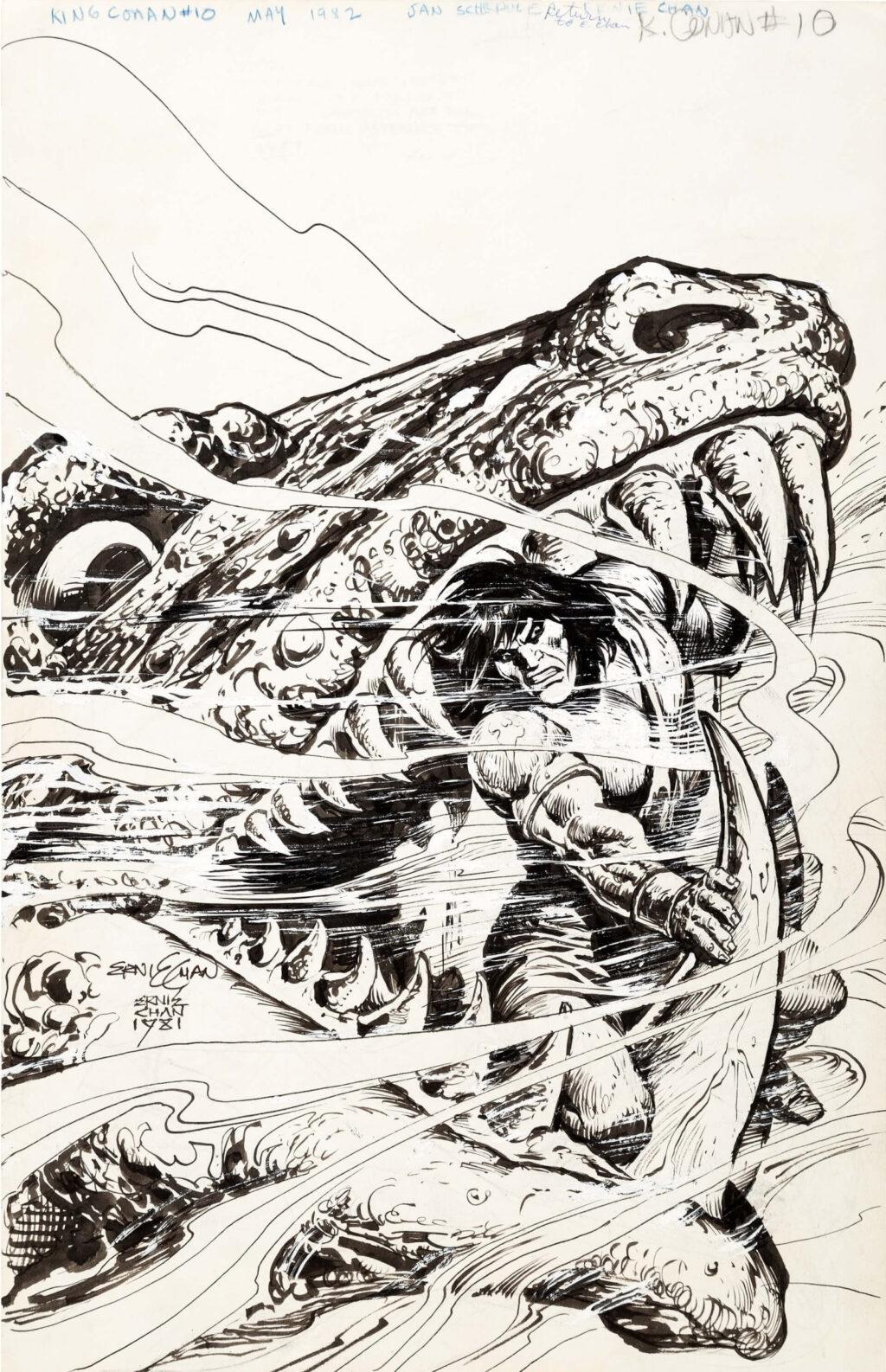 King Conan issue 10 splash by Ernie Chan