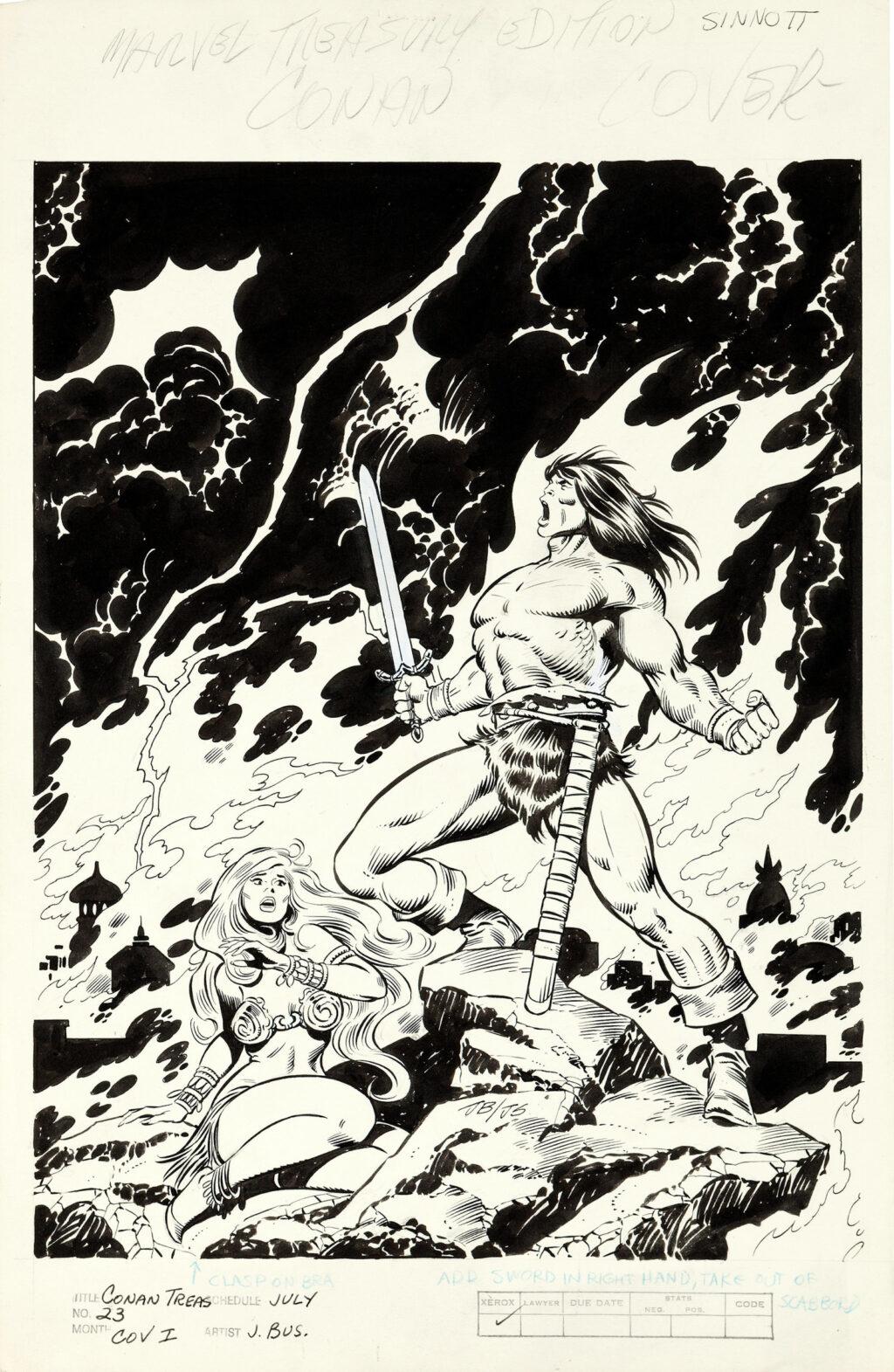Marvel Treasury Edition issue 23 cover by John Buscema and Joe Sinnott