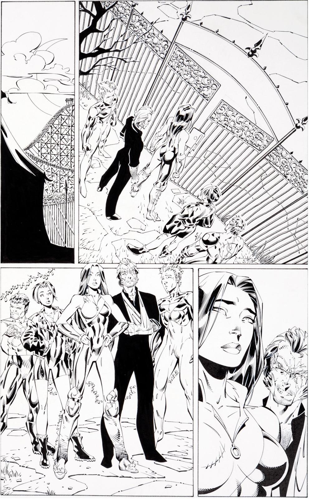 Gen 13 issue 8 page 14 by J. Scott Campbell and Alex Garner