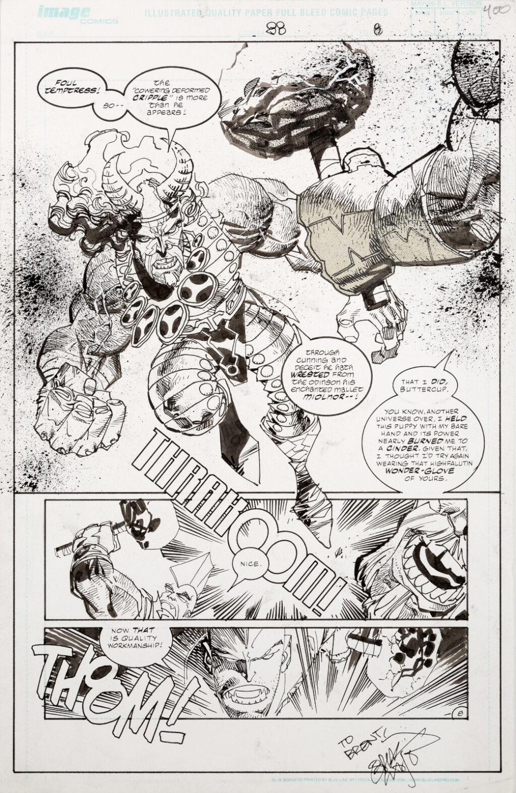 Savage Dragon issue 88 page 8 by Erik Larson