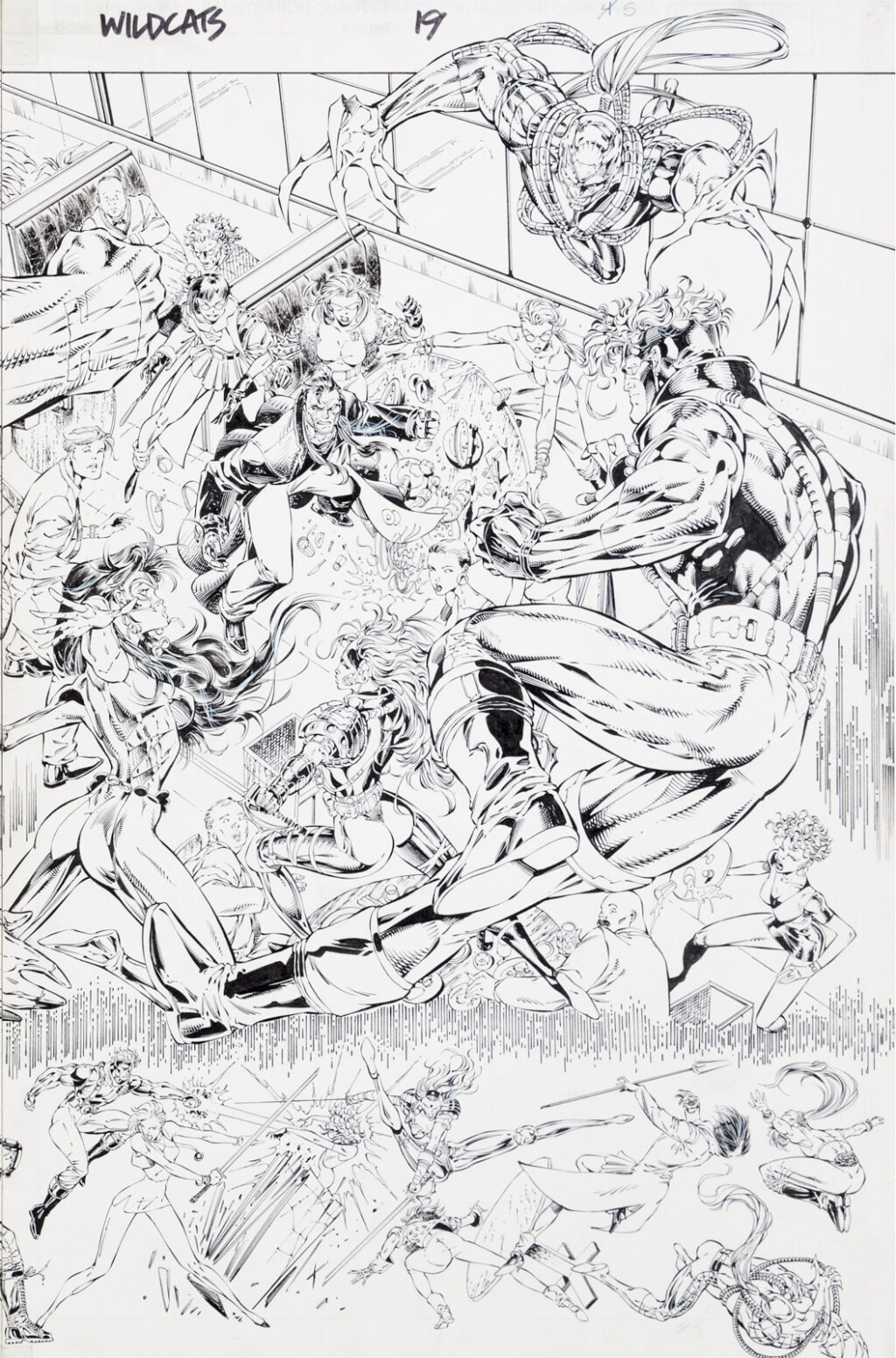Wildcats issue 19 splash by Jim Lee and Richard Bennett 2