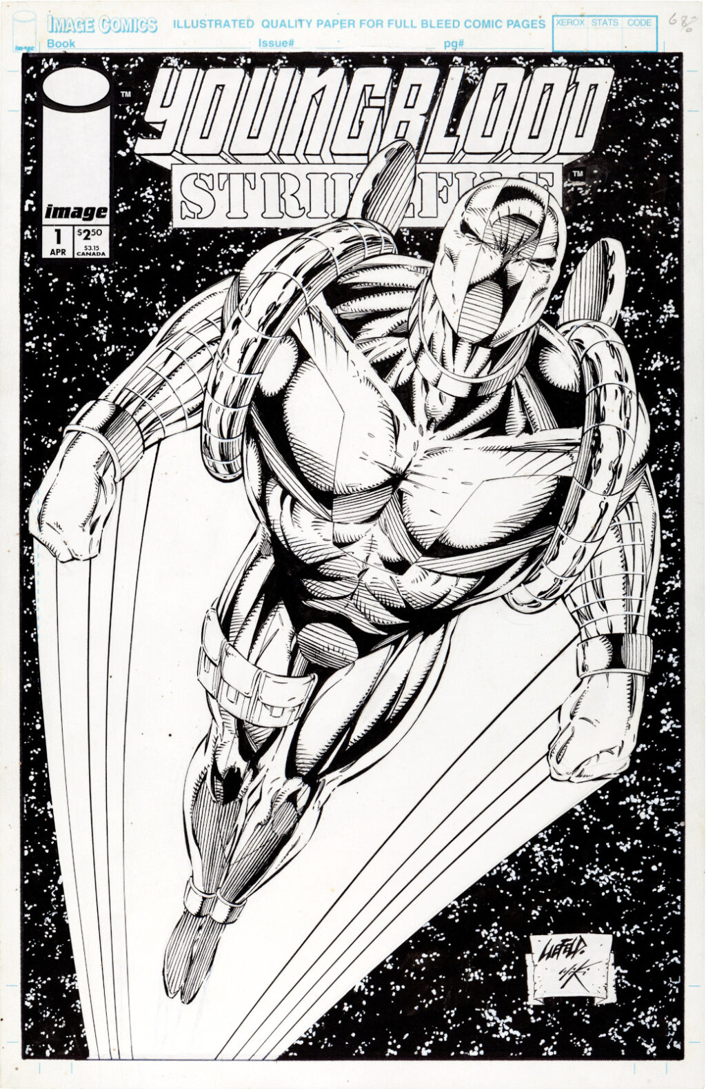 Youngblood Strikefile issue 1 cover by Rob Liefeld and Danny Miki