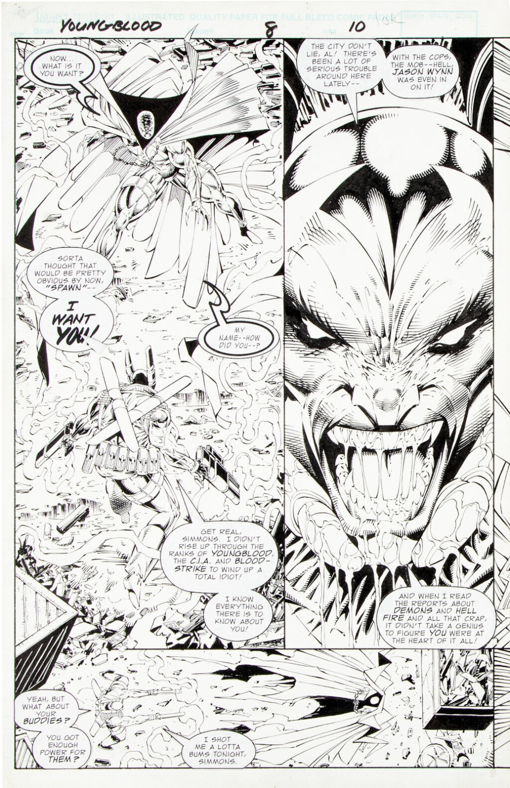Youngblood issue 8 double splash by Rob Liefeld and Danny Miki 1
