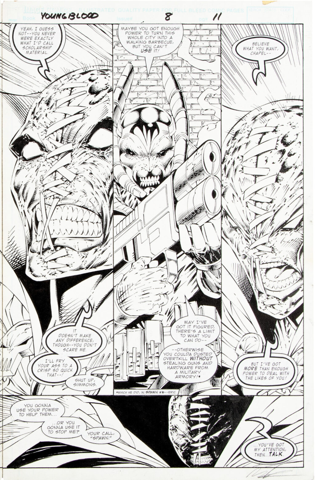 Youngblood issue 8 double splash by Rob Liefeld and Danny Miki 2