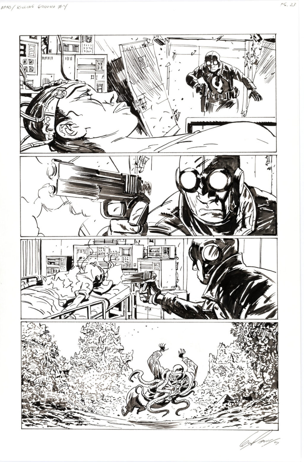 B.P.R.D. Killing Ground issue 4 page 23 by Guy Davis