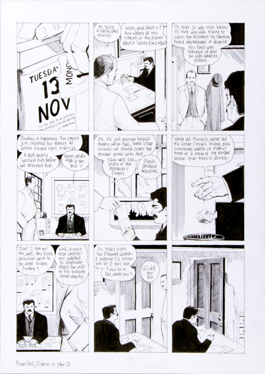 From Hell chapter 11 page 23 by Eddie Campbell