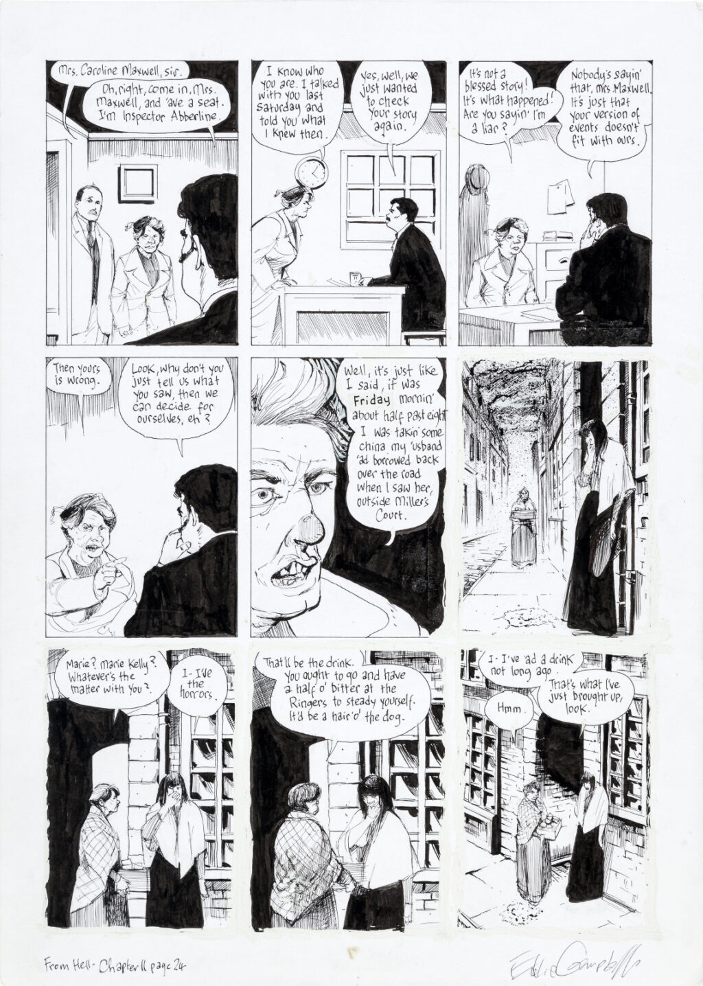From Hell chapter 11 page 24 by Eddie Campbell and Peter Mullins