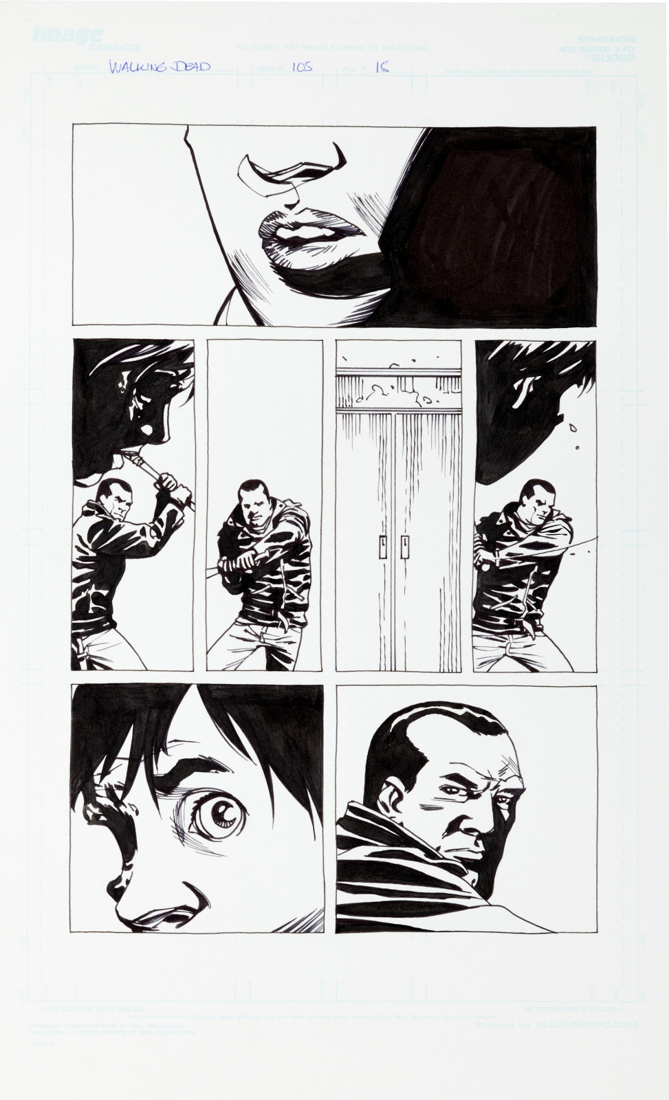 The Walking Dead issue 105 page 15 by Charlie Adlard