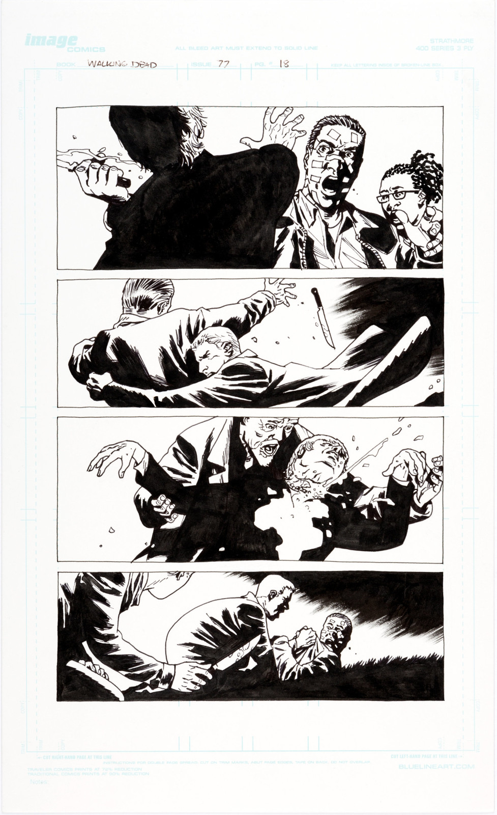The Walking Dead issue 77 page 18 by Charlie Adlard