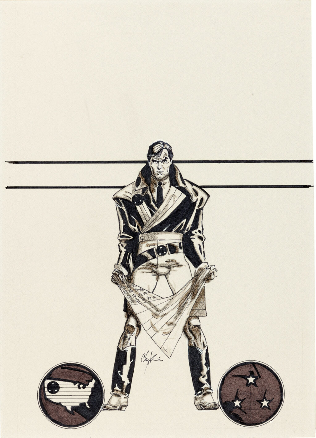 American Flagg issue 1 cover by Howard Chaykin