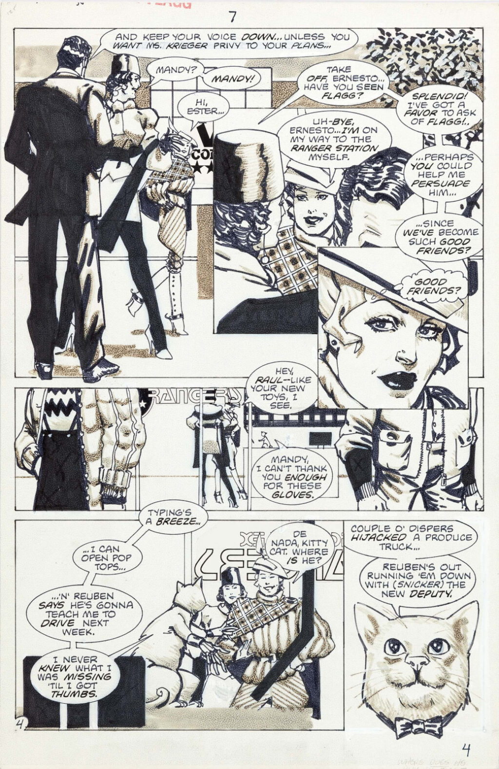 American Flagg issue 7 page 4 by Howard Chaykin