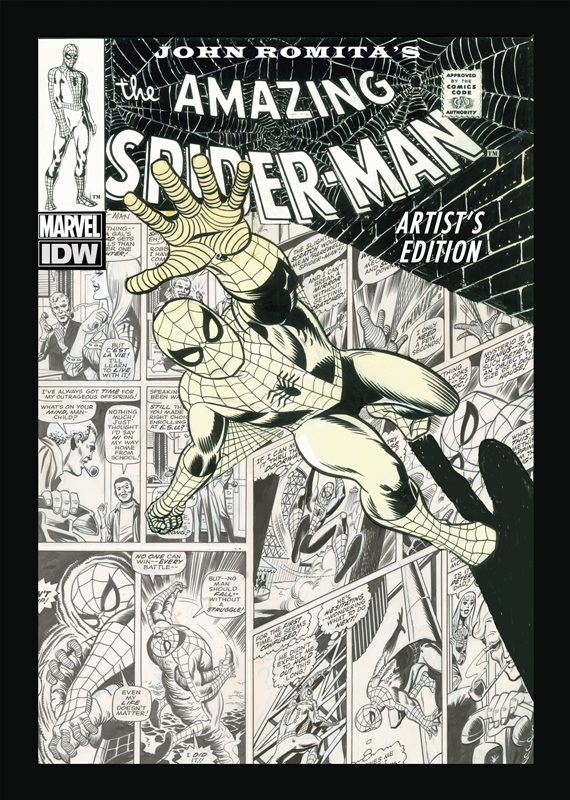 John Romitas The Amazing Spider Man Artists Edition announcement cover