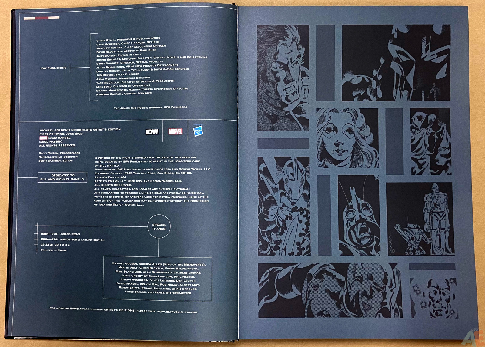 Michael Goldens Micronauts Artists Edition interior 1