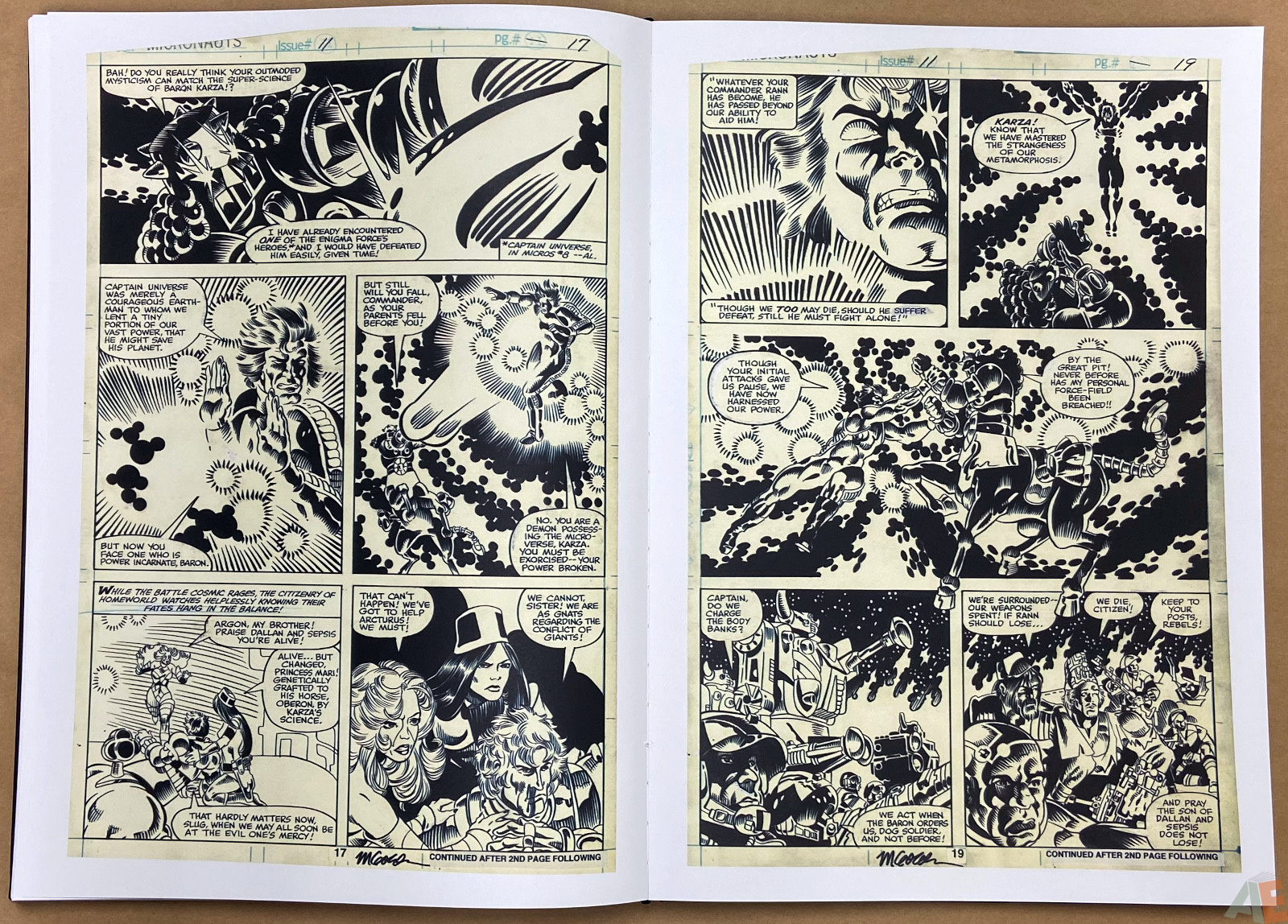 Michael Goldens Micronauts Artists Edition interior 11